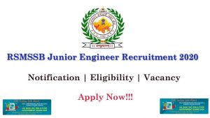 RSMSSB Junior Engineer Recruitment