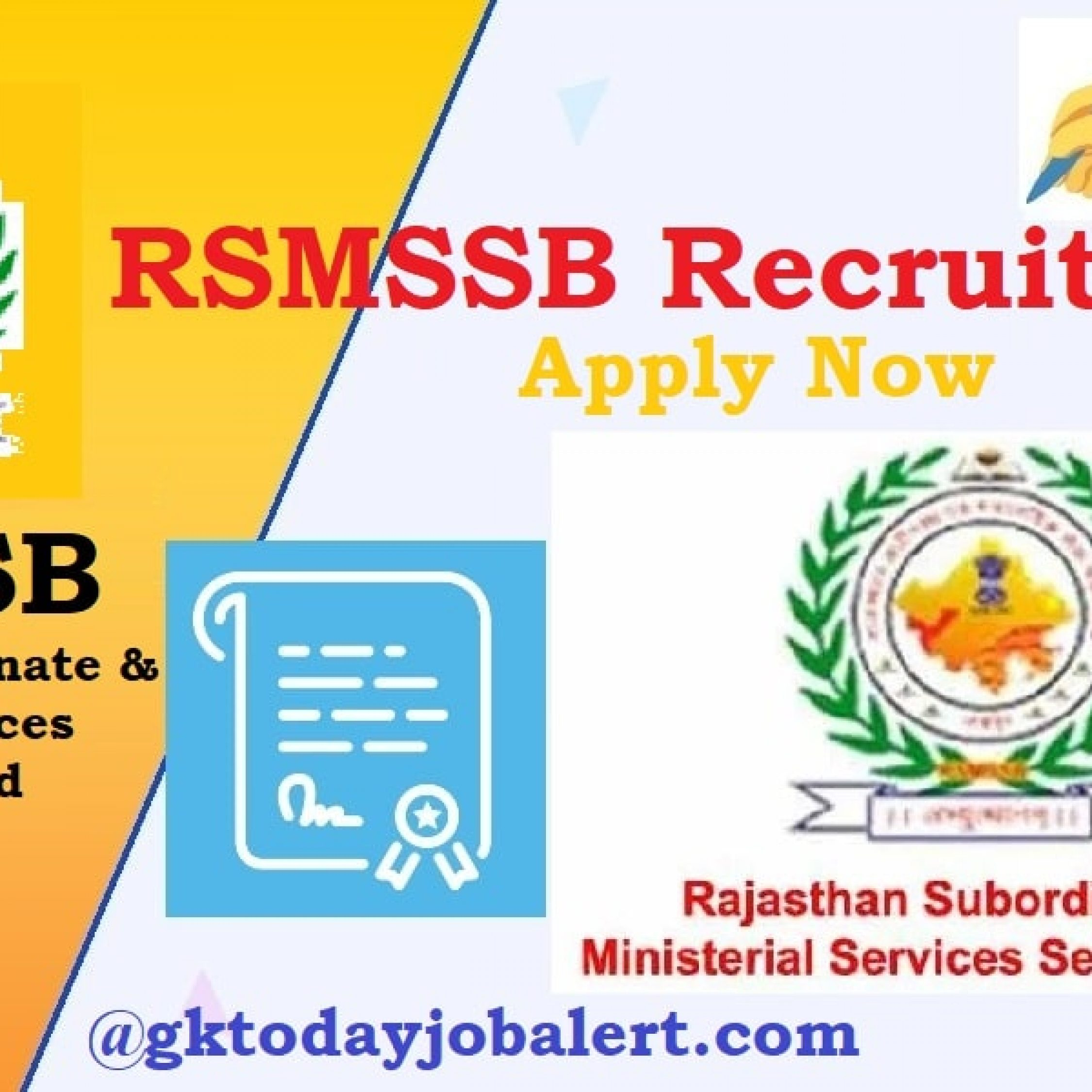RSMSSB Recruitment 2020 – Apply Online for 1406 Stenographer & ECG Technician Posts Date Extended