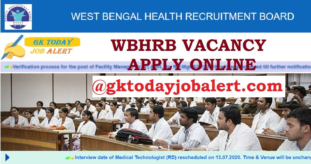 WBHRB 2020 - Apply Online Form
