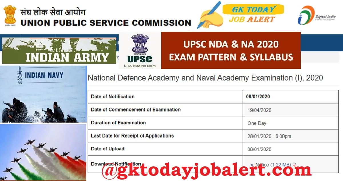 NDA NA Syllabus 2020-21 | NDA Exam Pattern Details