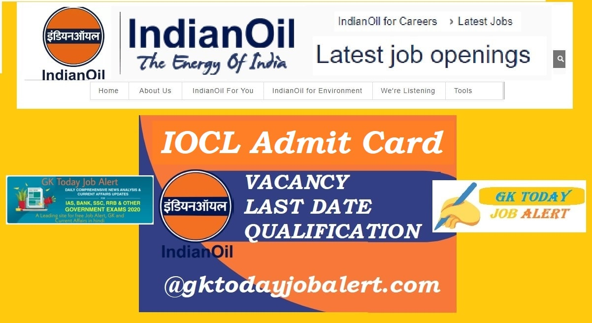 IOCL Admit Card 2020 for Apprentice Posts @ iocl.com | Check IOCL Exam Date