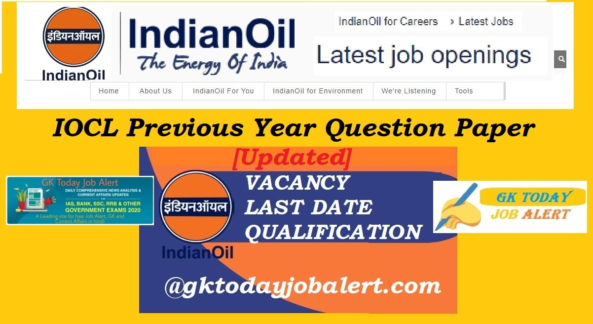IOCL Apprentice Previous Year Question Papers – IOCL Question Paper Pdf Download