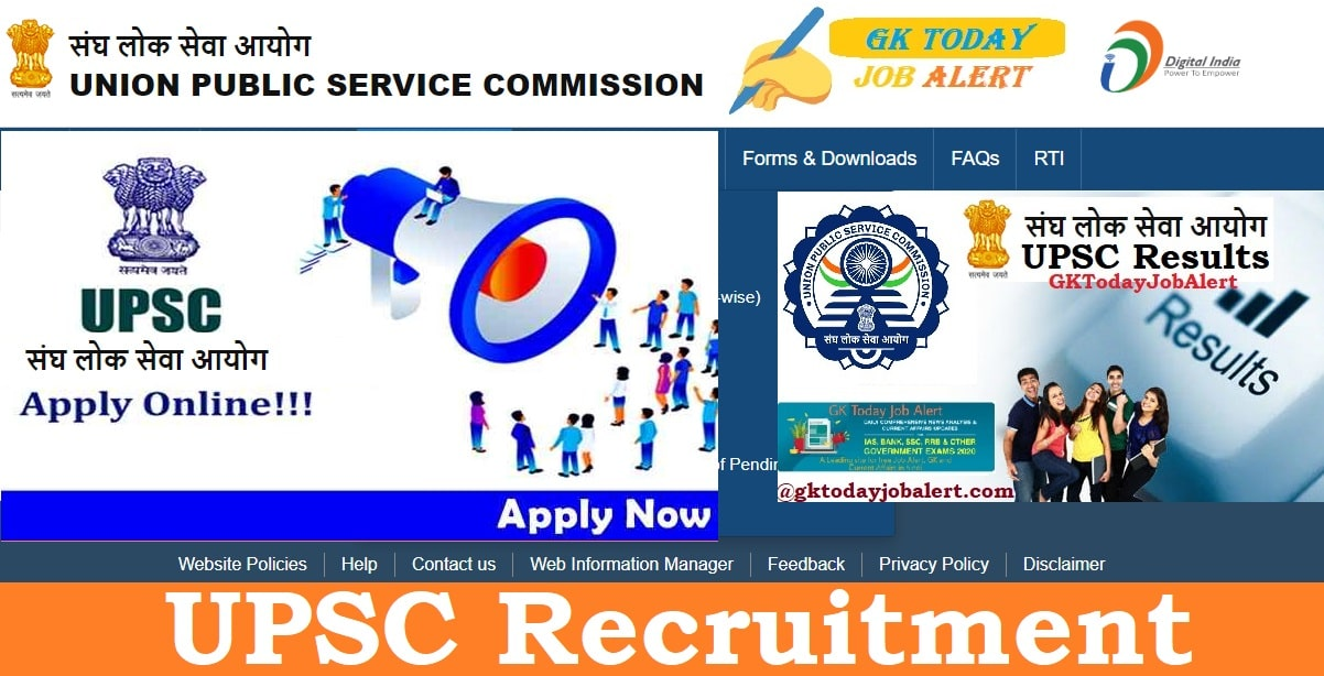 UPSC CGS Recruitment 2020 Apply Online