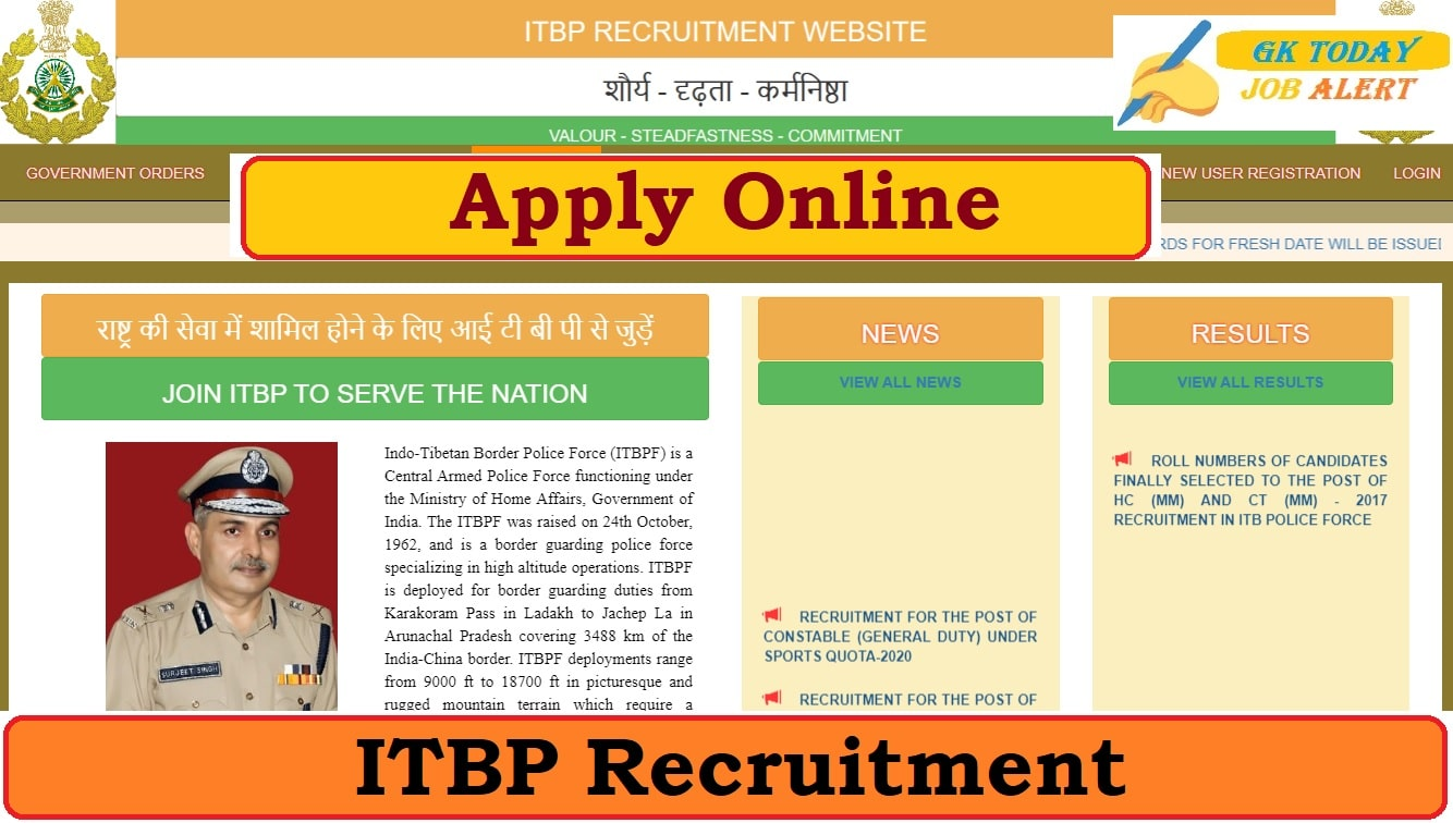 ITBP Recruitment 2020 - Apply Online