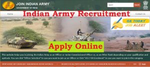 Indian Army Recruitment 2020 – Apply Online