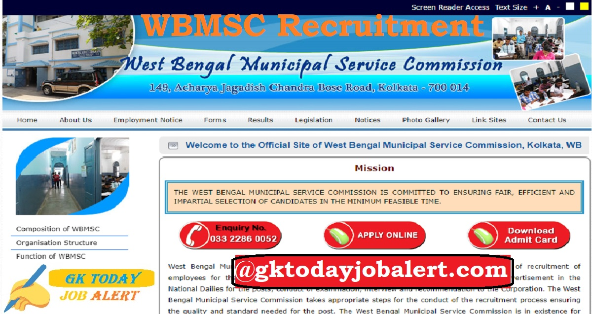 WBMSC Recruitment 2020 – Apply Online