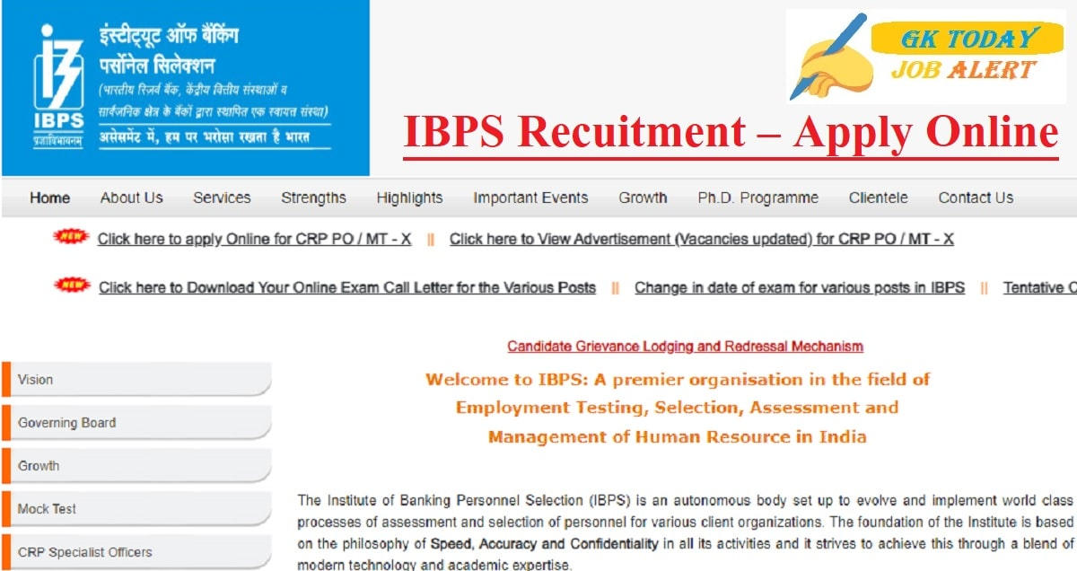 IBPS Recuitment 2020 – Apply Online