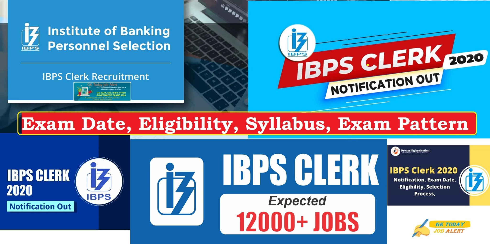 IBPS Clerk Notification 2020 - Clerk X 2557 Vacancies Re-open Online Form | Check Exam Date, Eligibility, Syllabus, Exam pattern (last date 06-11-20)
