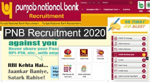 PNB Recruitment 2020 | PNB SO Recruitment Notification @ PNB India careers