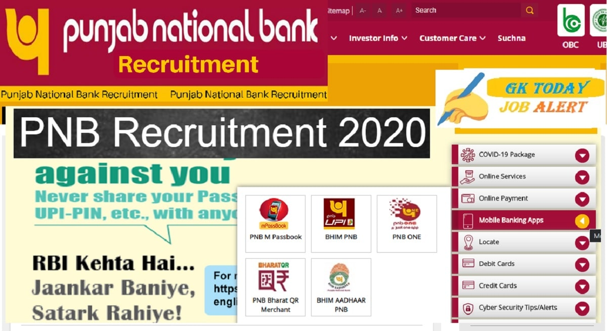 Punjab National Bank PNB Recruitment 2020 – Apply Online for 535 Specialist Officer Posts (Date Extended)