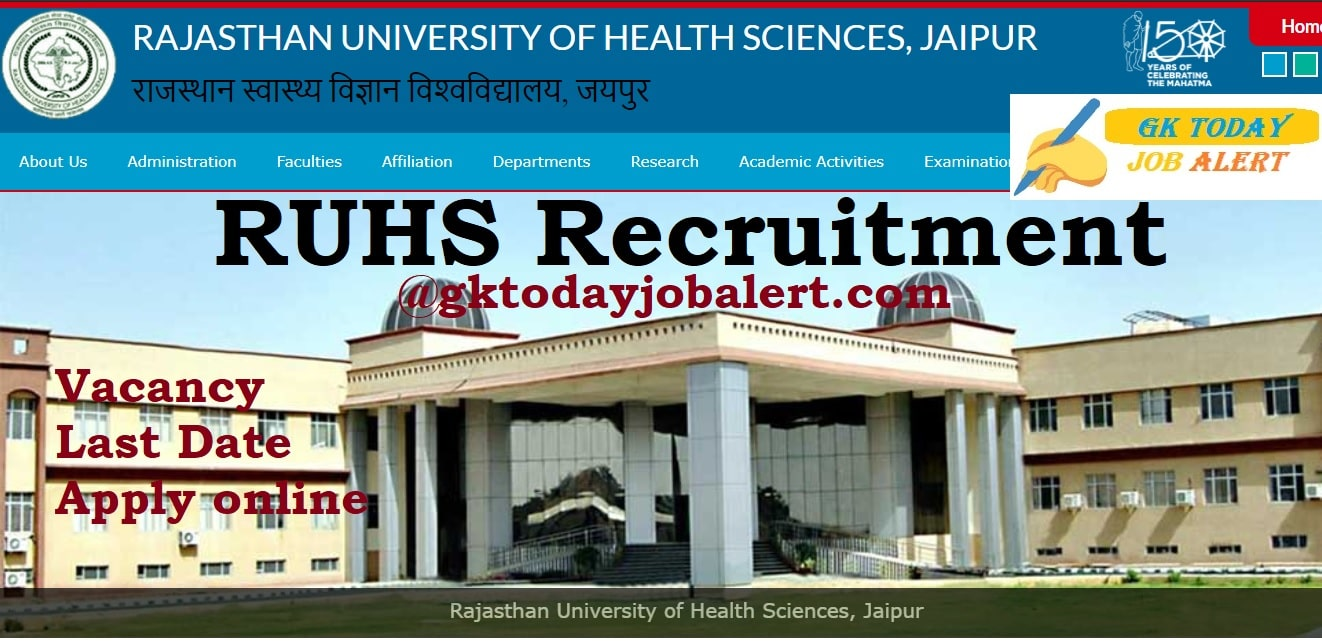 RUHS Recruitment 2020 – 2000 Medical Officer Vacancies – Apply Now last date