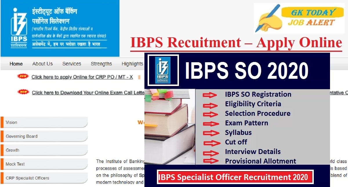 IBPS SO Recruitment 2020 Notification