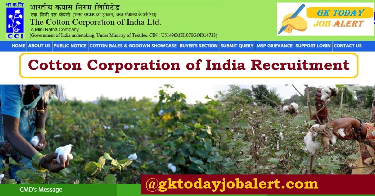 Cotton Corporation of India CCI Recruitment