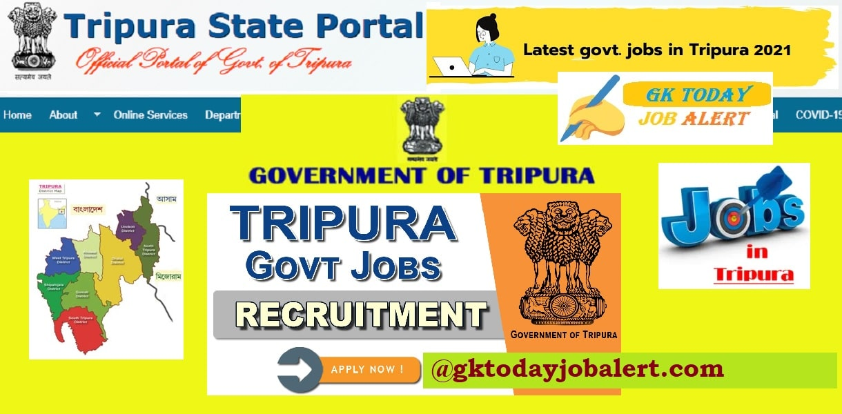 Tripura MTS Recruitment 2021 -  Multi Tasking Staff Online Form
