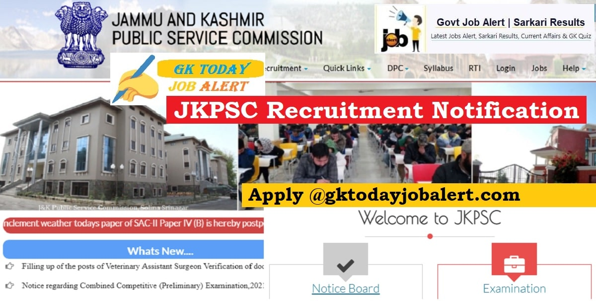JKPSC Recruitment Notification
