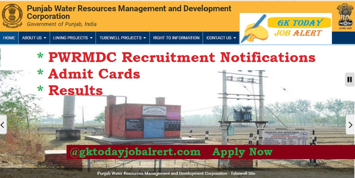 Punjab Water Resources Department PWRMDC Recruitment Notifications